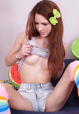 Stunning teen undressing